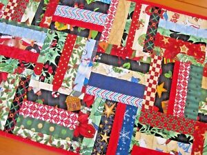 Fine Details About Handmade Quilted Table Runner Scrappy Holiday 5 Rail String Blocks Free Shipping Download Free Architecture Designs Xaembritishbridgeorg
