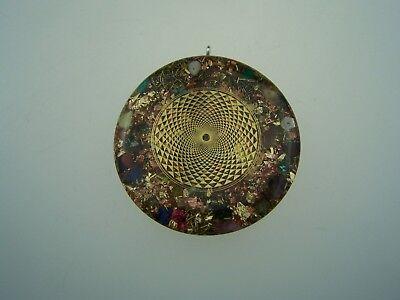 Sri Yantra Amuleto orgon Medallón Orgonit Amuleto Colgante orgonitanhänger