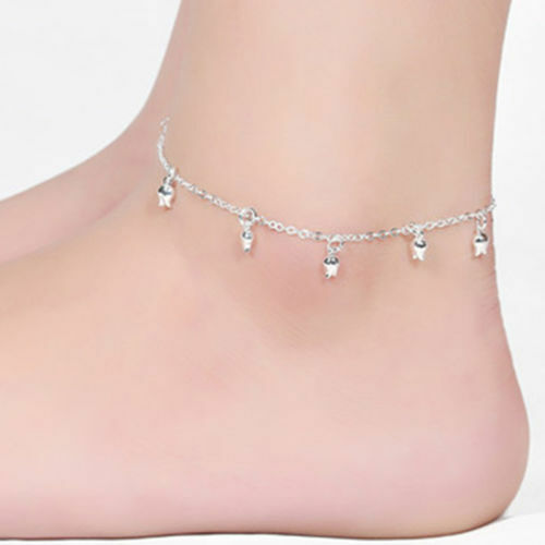 girls tattoo pictures charm ankle on feather black anklet
