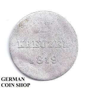 3-Kreuzer-1819-Herzogtum-Nassau-Silber