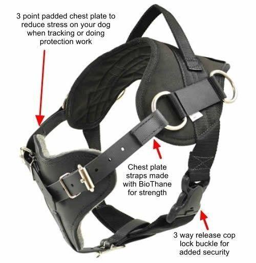 Schutzhund Protection and tracking working Dog Harness - RedLine K9