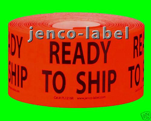 500 1.5x2 Ready to Ship Label//Sticker PL1216R