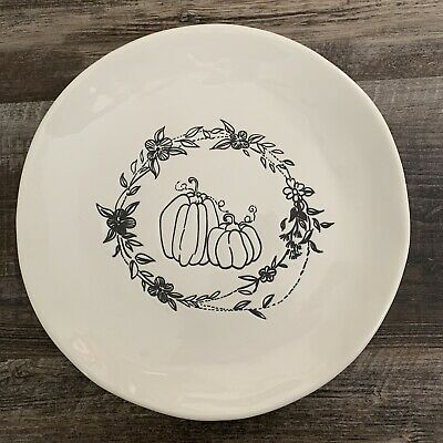 NWT Pier 1 ~ WILDWOOD LEAVES Dinner Plate Fall Autumn Colors