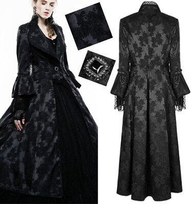 Lang Mantel Cape Kimono Gothic Lolita Barock Jacquard Winter Stilvoll PunkRave