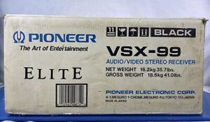 Pioneer Elite Audio/Video Stereo Receiver VSX-99 Made In Tokyo Japan