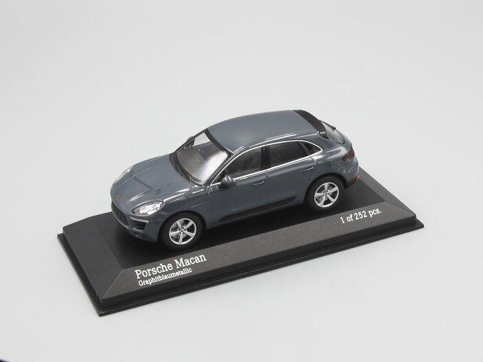 mejor marca Minichamps 1 43 Porsche Macan 2013 gris gris gris Metálico  soporte minorista mayorista