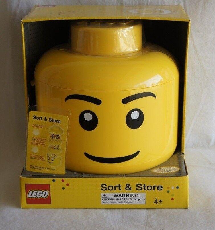 2011 LEGO Sort & Store Big Head Yellow Storage Bin RETIRED New in Box RARE