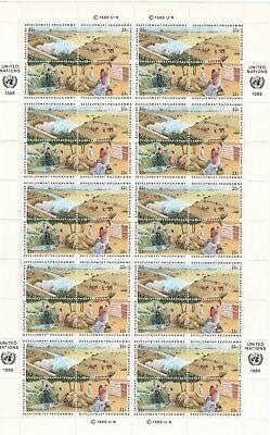 """Uno New York Schalterbogen """"entwicklungsprogramm 1986"""" ** Briefmarken Vereinte Nationen"""