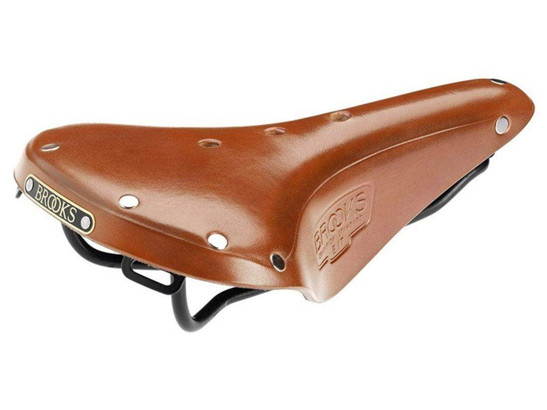 Brooks B17 estándar Clásicos Hombres Cuero Sillín de bicicleta (HONEY-Acero Negro)