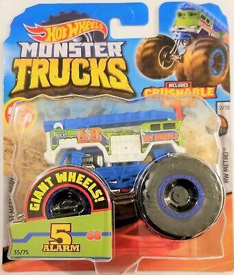 Hot Wheels - 2020 Monster Trucks HW Metro 2/10 5 Alarm 35 ...