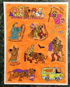 Pictures Animals Dog Scooby-Doo Collection- 20-01-27 Cartoon Characters Children Hanna-Barbera Vintage Sticker Sheet