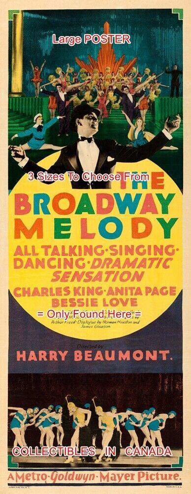 BROADWAY MELODY 1929 Showgirls ANITA PAGE = POSTER 3 Größes 6FT   9FT   10.5FT