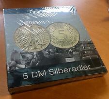 """Sammelordner für 73 x 5 DM """"Silberadler"""" 1951 bis 1974 ohne Münzen NEU in OVP"""