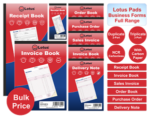 Details About Invoice Sales Invoice Delivery Purchase Note Receipt Book Duplicate Triplicate