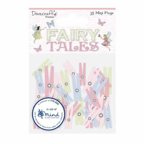 Mini Pegs Dovecraft Premium Fairy Tales Paper Craft Collection 35pc
