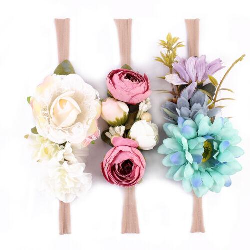 3pcs Kinder Baby Hochzeit Blume Haar Girlande Stirnband Blumenkranz Fotografie
