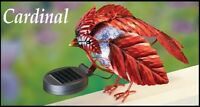 Solar Powered Lighted Cardinal Fence Topper Garden Decoration Statue