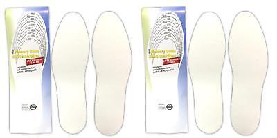 2 Paar Latex-schaum Memory Sohlen Gr. 36-45 | Schuheinlagen | Einlegesohle