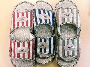 faafb562a Image is loading Women-men-unisex-hemp-Sandals-slippers-Shoes-Casual-
