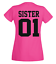 Best Friends  Partner  Freundinnen PINK Pärchen Damen T Shirt SISTER 01
