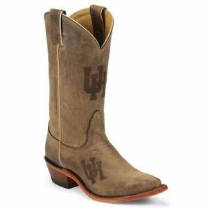Nocona-LDUH11-Women-039-s-University-of-Houston-Brown-Cowhide-Branded-College-Boots