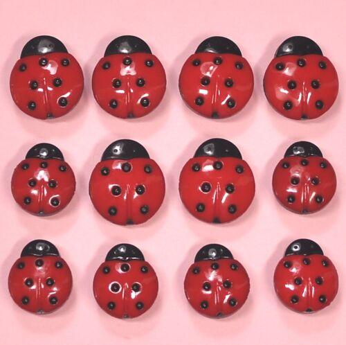 DRESS IT UP Buttons Lady Birds 0740 Ladybugs Ladybirds Bugs