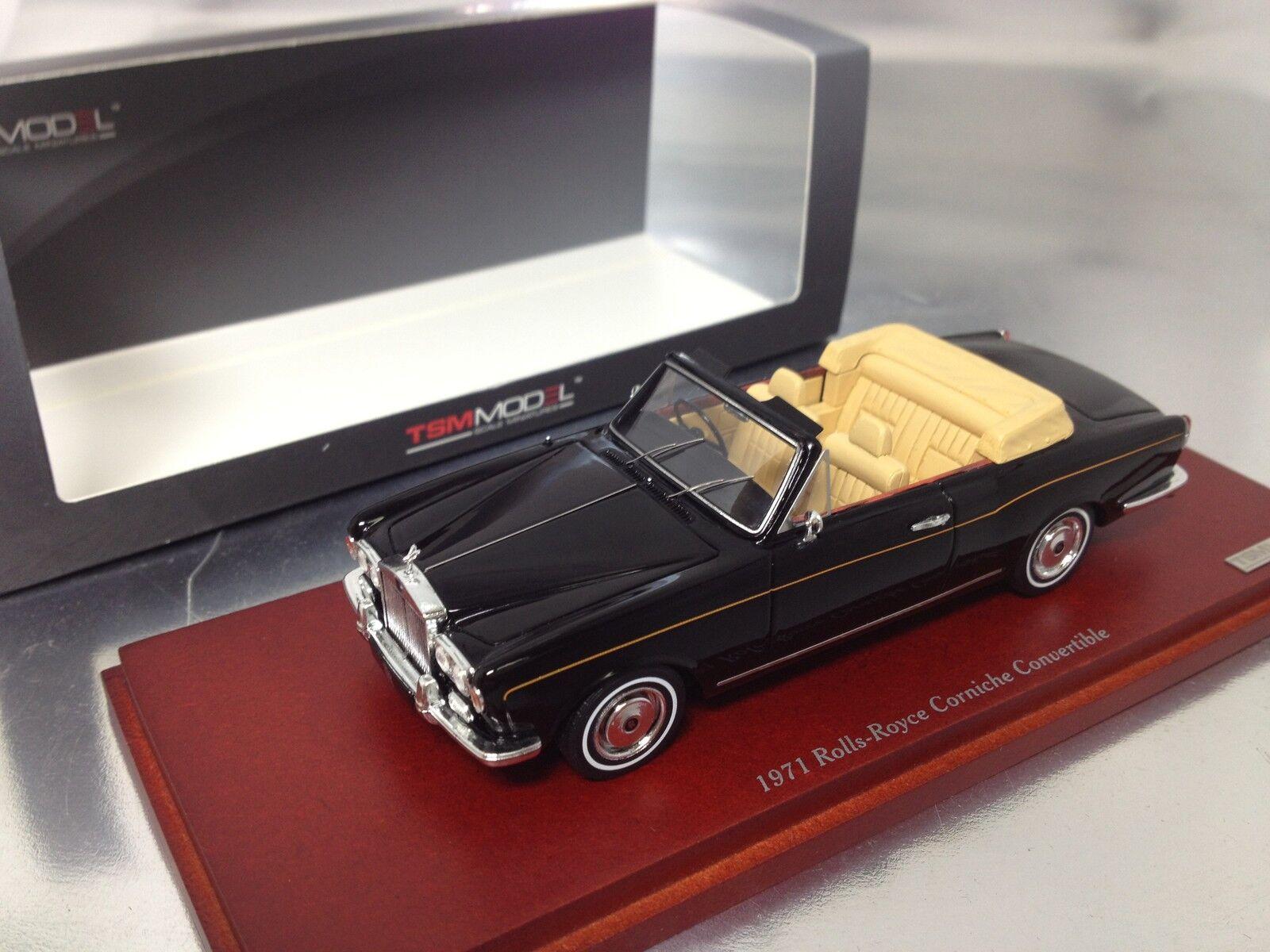 1 43 TSM  TSM134345 Rolls-Royce 1971 Corniche cabriolet noir
