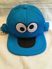 Sesame Street Cookie Monster YOUTH Snapback Hat . Cap Kids Boys Girls NEW OSFM