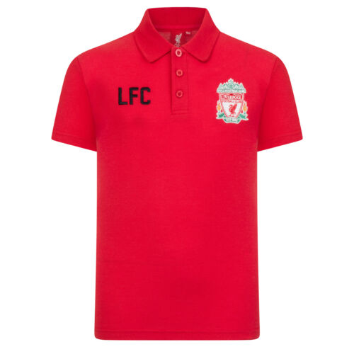 Liverpool FC Official Football Gift Boys Crest Polo Shirt