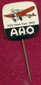 Vintage KITTY HAWK FLYER 1903 Aircraft Plane Metal Pin ~Lapel Badge~ A.H.O.