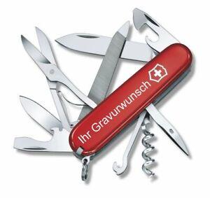 Victorinox Schweizer Taschenmesser Mountaineer rot mit Gravur