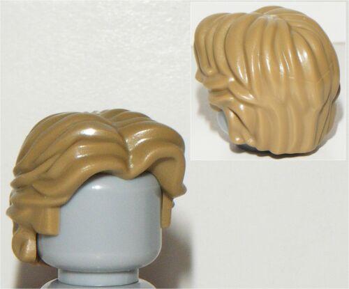 NEW LEGO STAR WARS HAN SOLO MINIFIGURE DARK TAN HAIR PART X1 WAVY STYLE