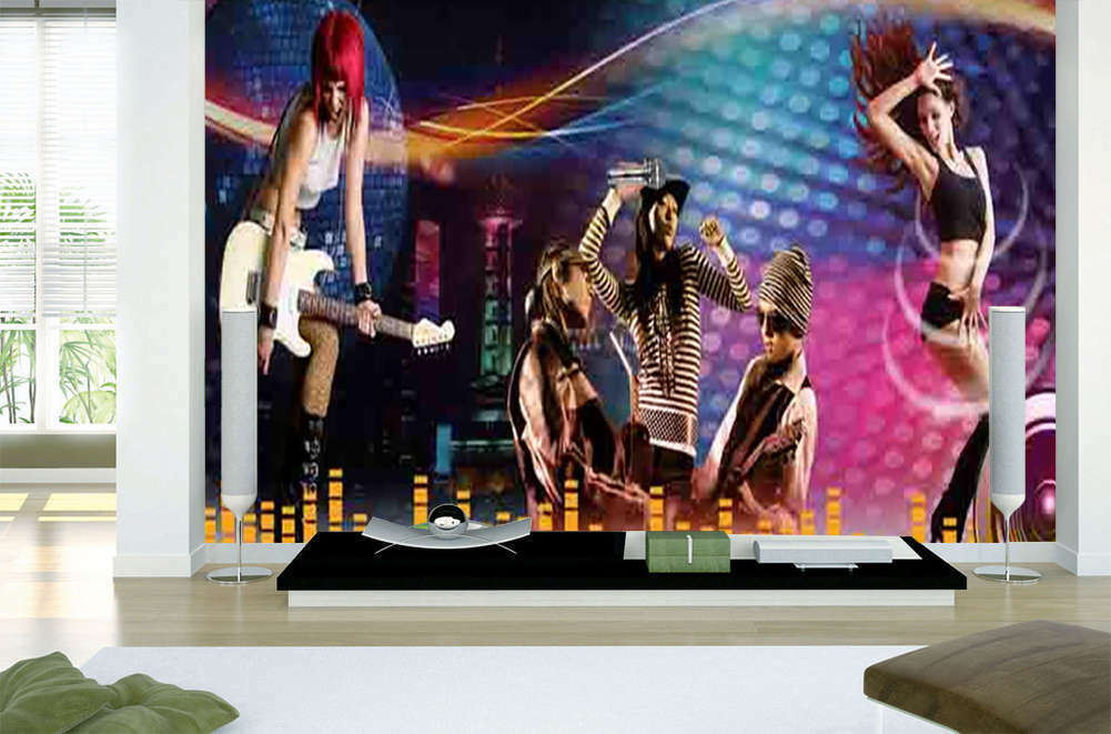 Dynamic Men, Damens 3D Full Wall Mural Photo Wallpaper Printing Home Kids Decor