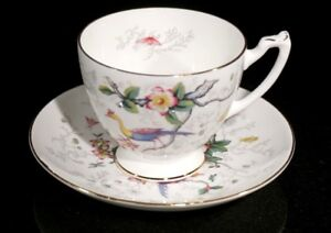 Beautiful-Coalport-Cairo-Peacock-Multi-Colour-Large-Footed-Cup-And-Saucer