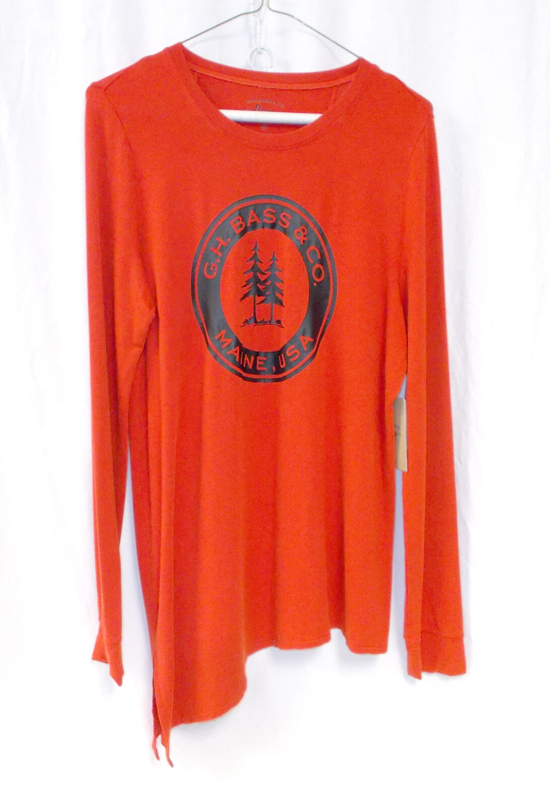G.H. Bass & Co Womens French Terry Tunic Red M NWT