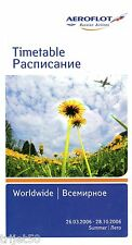 Aeroflot 2006 Summer Timetable