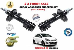 FOR-OPEL-VAUXHALL-CORSA-D-2006-2014-2X-FRONT-LEFT-RIGHT-SHOCK-ABSORBERS-SET