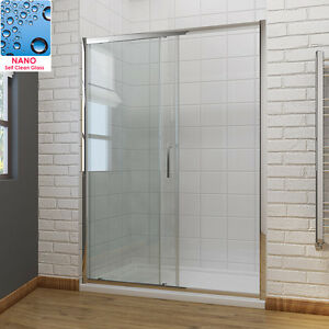 Sliding Shower Door Enclosure Screen Cubicle 6/8mm Glass Free Delivery