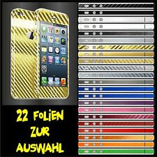 IPHONE 5 FOLIE 2D GOLD CARBON CHROM ( COVER HÜLLE SCHALE CASE SKIN )