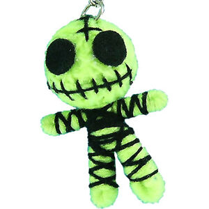 Lt-Green-Ghost-String-Voodoo-Doll-Keyring-Keychain-Chain-Handmade-Gift-S-2-034