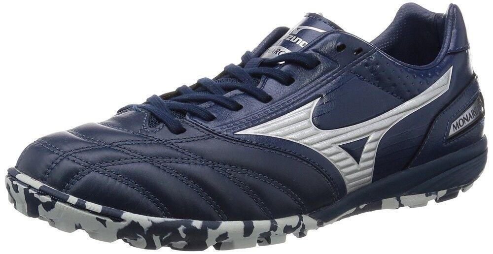 Zapatos DE FUTSAL FÚTBOL Mizuno monarcida Roscado Plata Horquilla Pro Q1GB1610 Azul Marino X