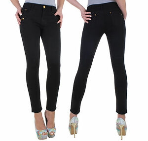 Women-039-s-Jeans-Trousers-Stretch-Skinny-Tube-Slim-Low-rise-5o