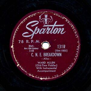 WARD ALLEN (Old Time Fiddler) on 1955 Sparton 131 (Canada) - C.N.E. Breakdown