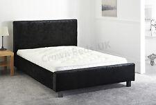 VELVET MIAMI UPHOLSTERED BED FRAME IN 6FT,SUPER KINGSIZE BLACK
