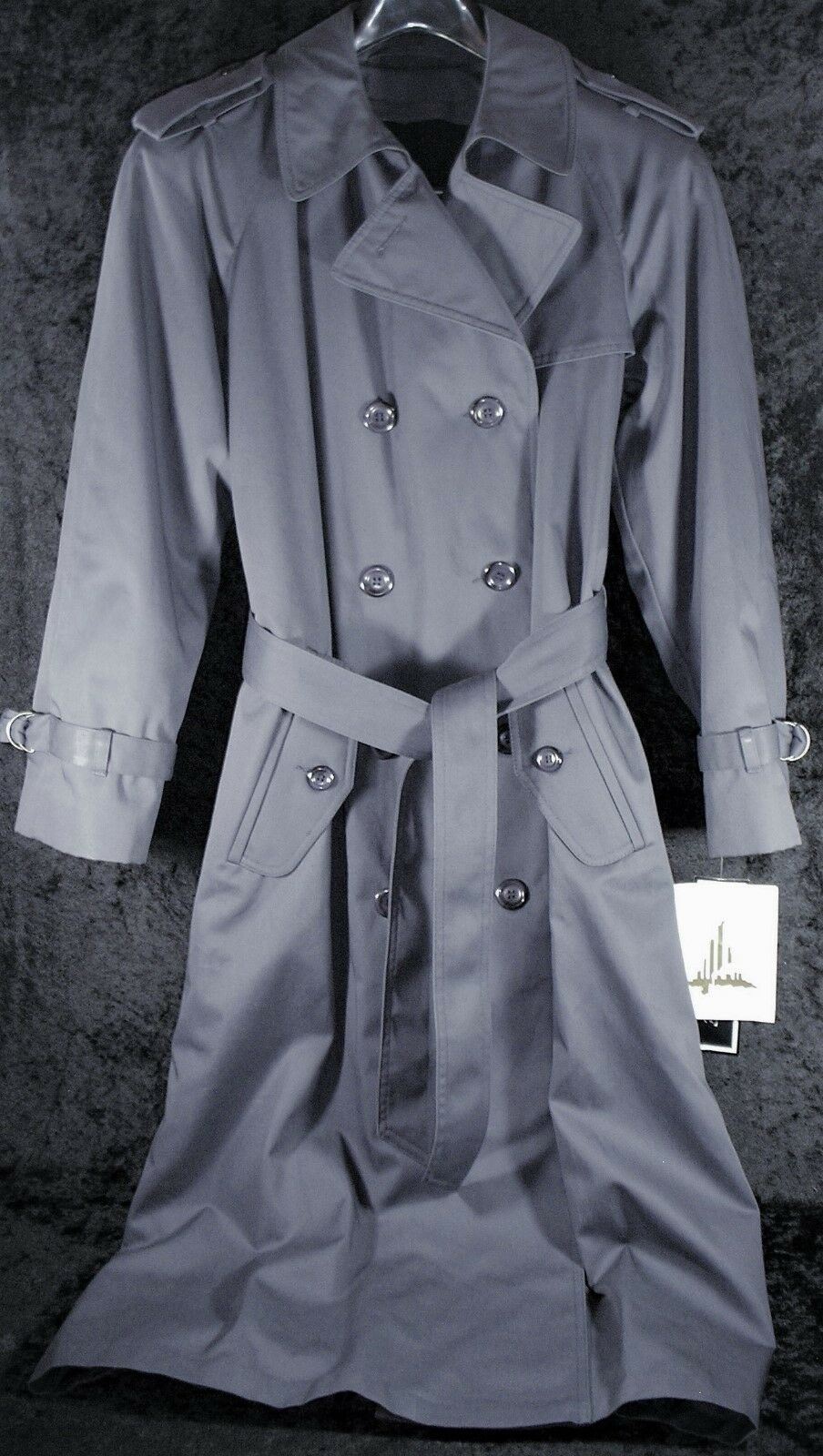 Womens Misty Harbor 4P Belted Trench Coat Removable Liner - NWT