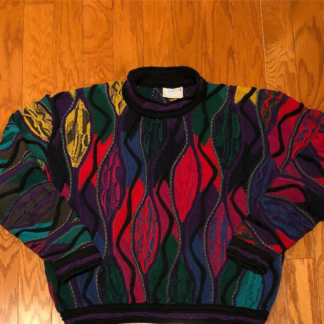 Good Condition Vintage Coogi Sweater sz M Biggie Hip Hop Cosby Sweater