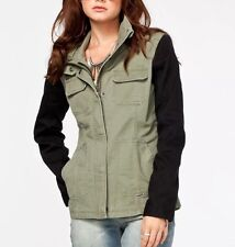 $99 Fox Racing Women's Spark Military Jacket In Fatigue Green Size XL