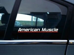 American Muscle Classic Muscle Car Sticker Retro Decal Ebay