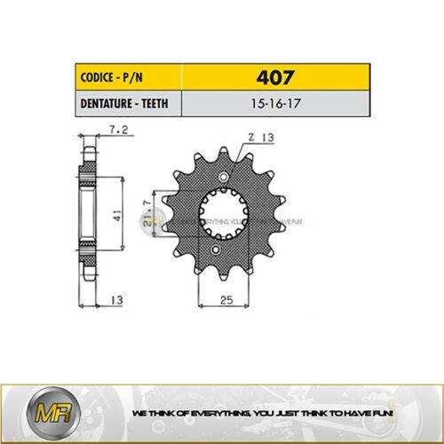 HONDA XL V TRANSALP ABS 700 2008 2009 2010 2011 PIGNONE ACCIAIO 525-16 DENTI
