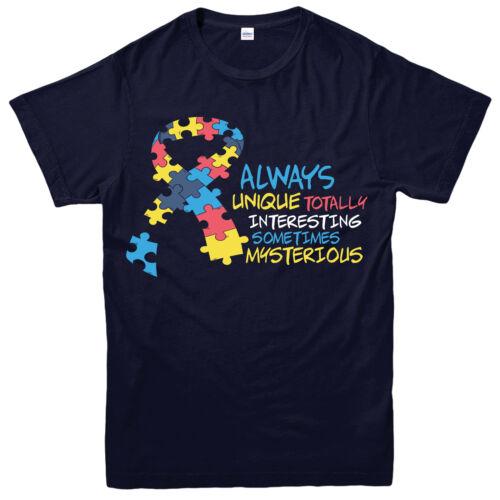 Always Unique Totally Interesting Gift Design Tee Top Autism Awareness T-Shirt